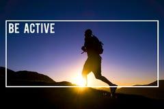 Sea concepto activo del Active de la acción de la forma de vida de la aptitud de la salud Imagen de archivo libre de regalías