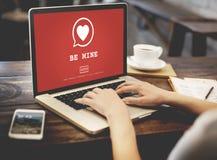Sea concepto de Valentine Romance Heart Love Passion de la mina Foto de archivo