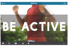 Sea concepto sano activo de Challenge Energy Travel del atleta Foto de archivo libre de regalías