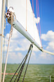 Sea Concepts: Mast of the Yacht On Sea Stock Photos