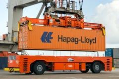 Sea container crane Stock Images