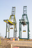 Sea container crane Royalty Free Stock Images