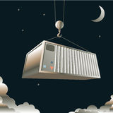 Sea Container Royalty Free Stock Images