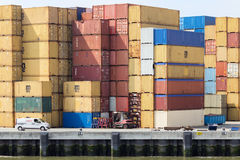 Sea container terminal Stock Photo