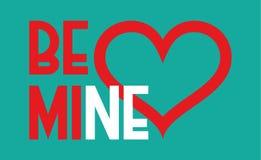Sea corazón de la mina Día de tarjetas del día de San Valentín y diseño de la boda Foto de archivo libre de regalías