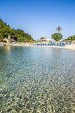 Sea in Corfu island in Greece. Palaiokastritsa bay at Corfu island in Greece Royalty Free Stock Image