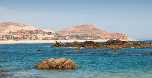 Sea of Cortez in Los Cabos, Mexico. Sea of Cortez and beach in Los Cabos, Mexico stock image