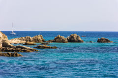 Sea cost with rocks Royalty Free Stock Photo