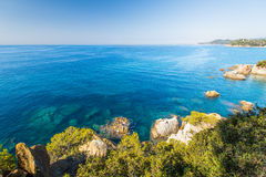Sea at Costa Brava Royalty Free Stock Images