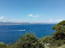 The sea from the Cote d& x27;azur royalty free stock photo