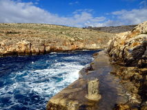 Sea cove. Mediterranean sea cove in Malta Royalty Free Stock Image