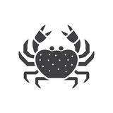 Sea Crab Line Icon. Beach crab outline icon. Sea creature vector illustration in silhouette design Royalty Free Stock Photography