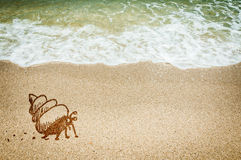 Sea crab sketching of concept Stock Images