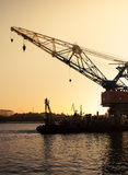 Sea crane platform Stock Photography