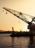 Sea crane platform Stock Photography