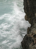 Sea crashing on a cliff Royalty Free Stock Photography