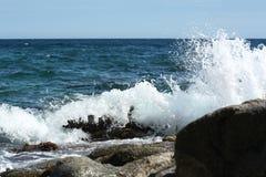 Sea crashing. The surf beating on the rocks Stock Photo