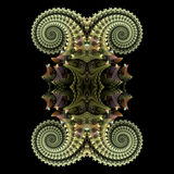Sea creature. Abstract fractal image resembling a sea creature Stock Photography