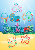 Sea creatures. Royalty Free Stock Image