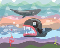 Sea creatures c Royalty Free Stock Photography