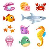 Sea creatures Royalty Free Stock Images