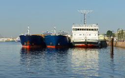 Sea cruise and cargo ships Royalty Free Stock Photography
