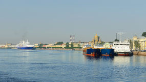 Sea cruise and cargo ships Stock Images