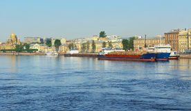 Sea cruise and cargo ships Royalty Free Stock Images