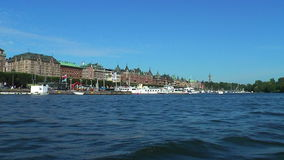 Sea cruise in Stockholm, Sweden stock video