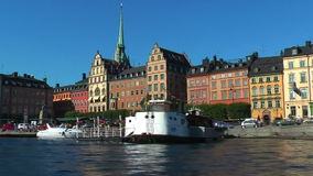 Sea cruise in Stockholm, Sweden. Scenic summer sea cruise in Stockholm, Sweden stock video footage