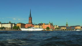 Sea cruise in Stockholm, Sweden stock video footage