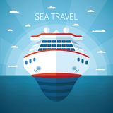 Sea cruise vector concept Royalty Free Stock Image