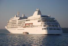 Sea cruiser. One big white sea cruiser Royalty Free Stock Image