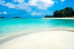 Sea crystal beach white sand on sea Stock Photography