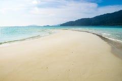 Sea crystal beach white sand smooth on sea Stock Image