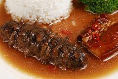 Sea cucumber dish Stock Photography