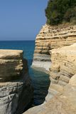 Sea cut in Sidari , Corfu , Greece Royalty Free Stock Photos
