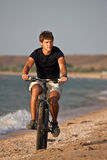 Sea cyclist Stock Image