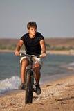 Sea cyclist Stock Image