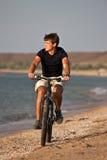 Sea cyclist Royalty Free Stock Photos