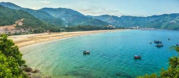 Sea Dai Lanh summer afternoon royalty free stock image