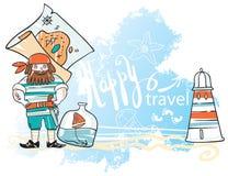 Sea decorative background Stock Photos