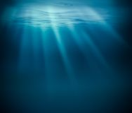Sea deep or ocean underwater Stock Photo