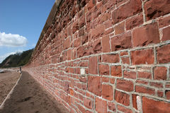 Sea defence wall Royalty Free Stock Photography