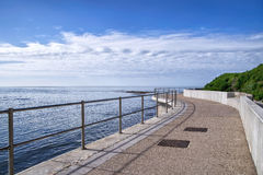 Sea Defence Wall At Lyme Regis Royalty Free Stock Photos