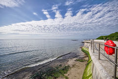 Sea Defence Wall At Lyme Regis Royalty Free Stock Images