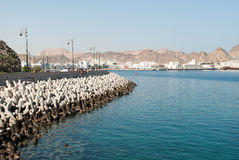 Free Sea Defences And Promenade In Muscat, Oman Stock Photography - 49242292