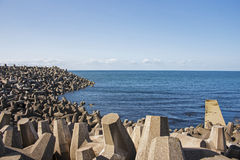 Sea defences Royalty Free Stock Image