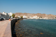 Sea defences and promenade in Muscat, Oman Royalty Free Stock Image