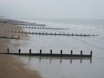 Sea Defences. At A Beach Stock Photography